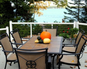 deck fall decor