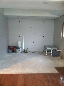 kitchen at drywall